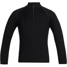 Icebreaker 260 Tech LS Half Zip Shirt Barn black